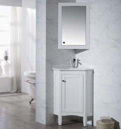 get quotations stufurhome ty 650pw modern monte corner bathroom vanity with medicine cabinet white 25 [ 802 x 1000 Pixel ]