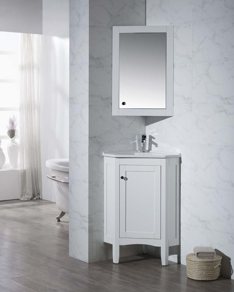 medium resolution of get quotations stufurhome ty 650pw modern monte corner bathroom vanity with medicine cabinet white 25