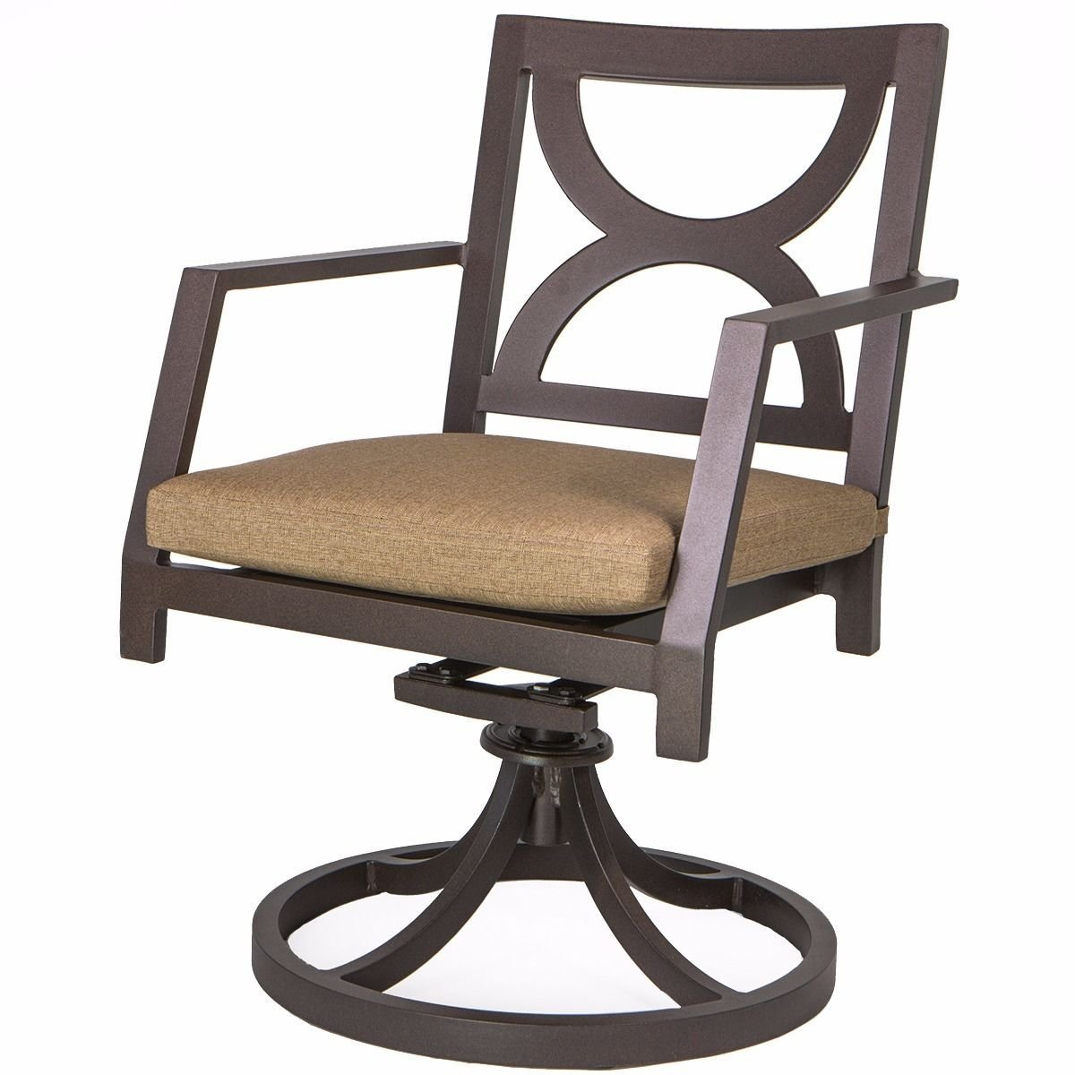 swivel chair cushions high stool chairs cheap rocker cushion find get quotations 9trading outdoor patio dining cast powder coated seat bronze free tax
