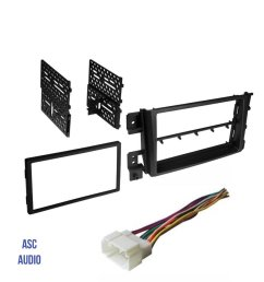 get quotations asc car stereo install dash kit and wire harness to install a double din aftermarket radio [ 1200 x 1493 Pixel ]