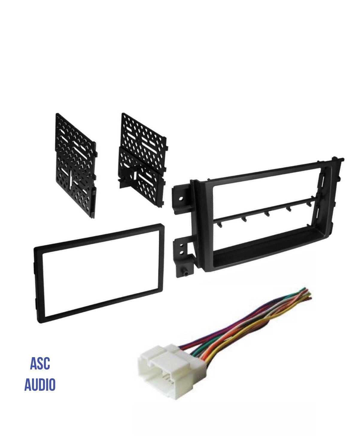 hight resolution of get quotations asc car stereo install dash kit and wire harness to install a double din aftermarket radio