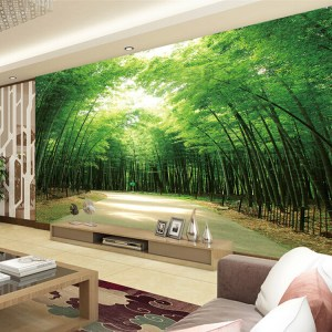 living background bamboo wall mural hotel tv 3d rooms forest murals nature modern thai ceiling calming natural road custom theme