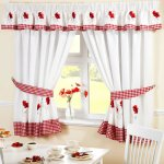 Buy Poppy Gingham Kitchen Embroidered Drapes Curtains Red White W66 X L54 Valance Pelmet In Cheap Price On Alibaba Com