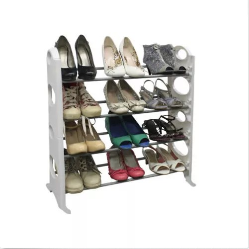12 pair free standing 4 tier high heel shoe rack organizer space saving racks white buy high heel shoe rack 4 tier high heel shoe rack