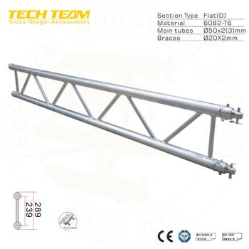 B30-ds30 Aluminium Flat Pipe Truss Design Flat Roof
