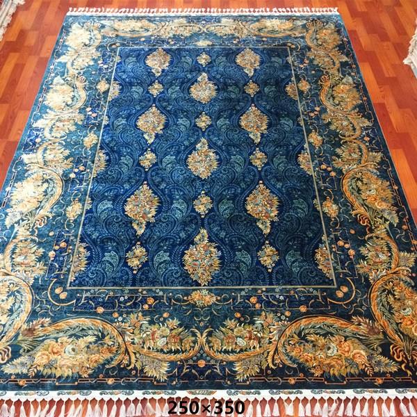 4x6ft bleu fonce oriental noue a la main tapis de soie persan pas cher tapis de soie prix buy tapis en soie 4x6ft tapis de soie persan product on
