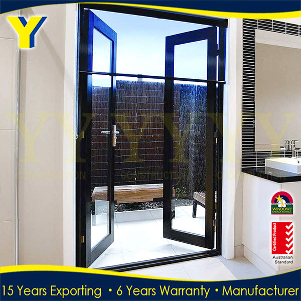 Glass Sliding Commercial Entrance Door Glass Partition