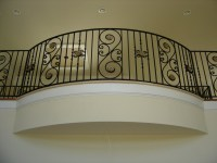 Security Railing Outdoor Balcony Railing Wrought Iron