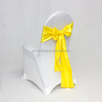 yellow chair covers drive walker transport satin pre tied cheap sashes buy
