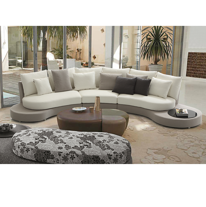 oval sofa wood design pictures 2018 new fashion half moon shape living room sectional