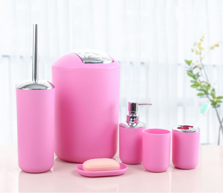 Hotselling Pink Bathroom Accessories Set For Home And