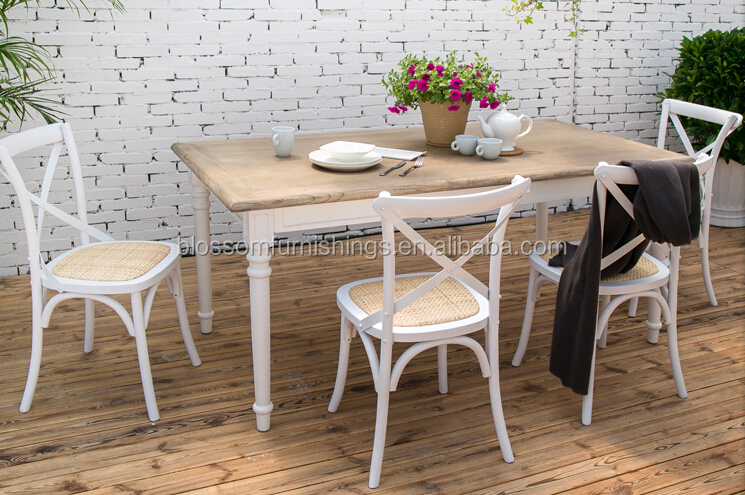 white x back chair high top table and chairs patio wholesale crossback vineyard french style side antique classic cross