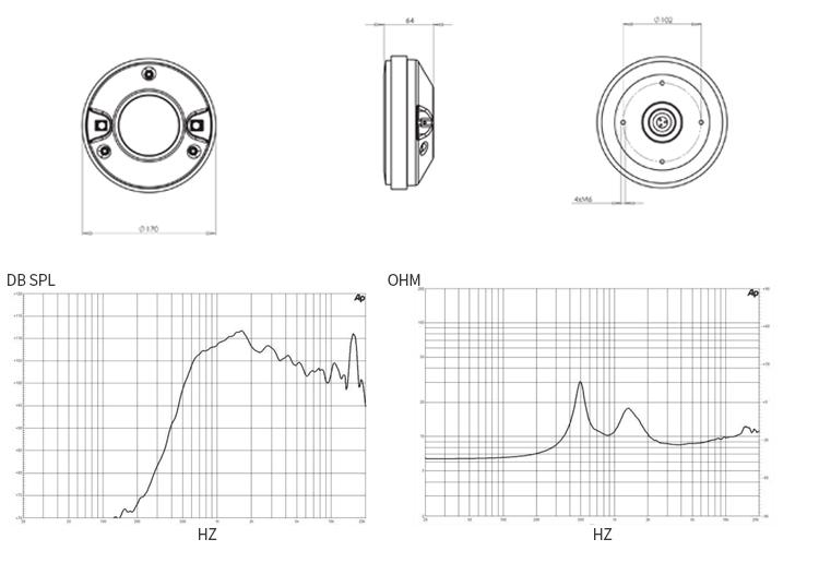 De82tn 3 Inch 36mm 8 Ohm High Frequency Driver Speaker