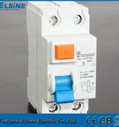 2 pole id model 16a 63a 230 400v ac rccb elcb rcd earth leakage circuit breaker [ 1000 x 1000 Pixel ]