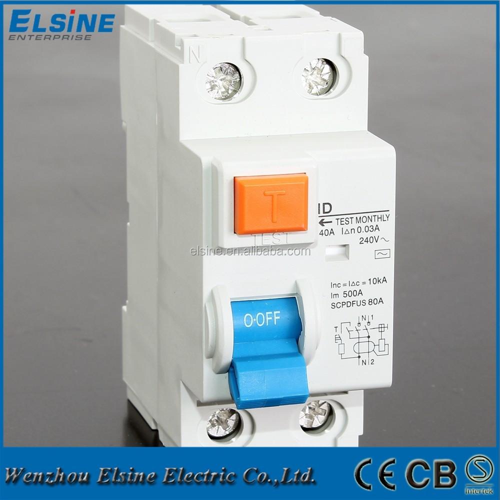 hight resolution of 2 pole id model 16a 63a 230 400v ac rccb elcb rcd earth leakage circuit breaker