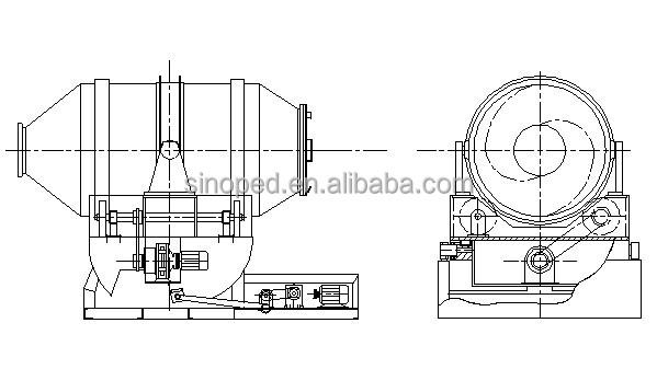 2d Flour Rapid Mixer / Flour Powder Mixing Machine