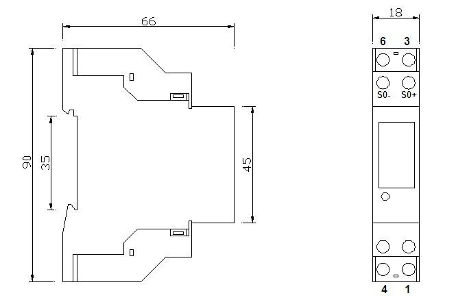 Ddm30sc 1 Phase Single Phase 18mm Smallest Size Din Rail
