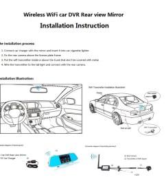 4 3 inch wifi wireless reversing camera rear view mirror dvr auto dimming rearview backup camera [ 939 x 942 Pixel ]