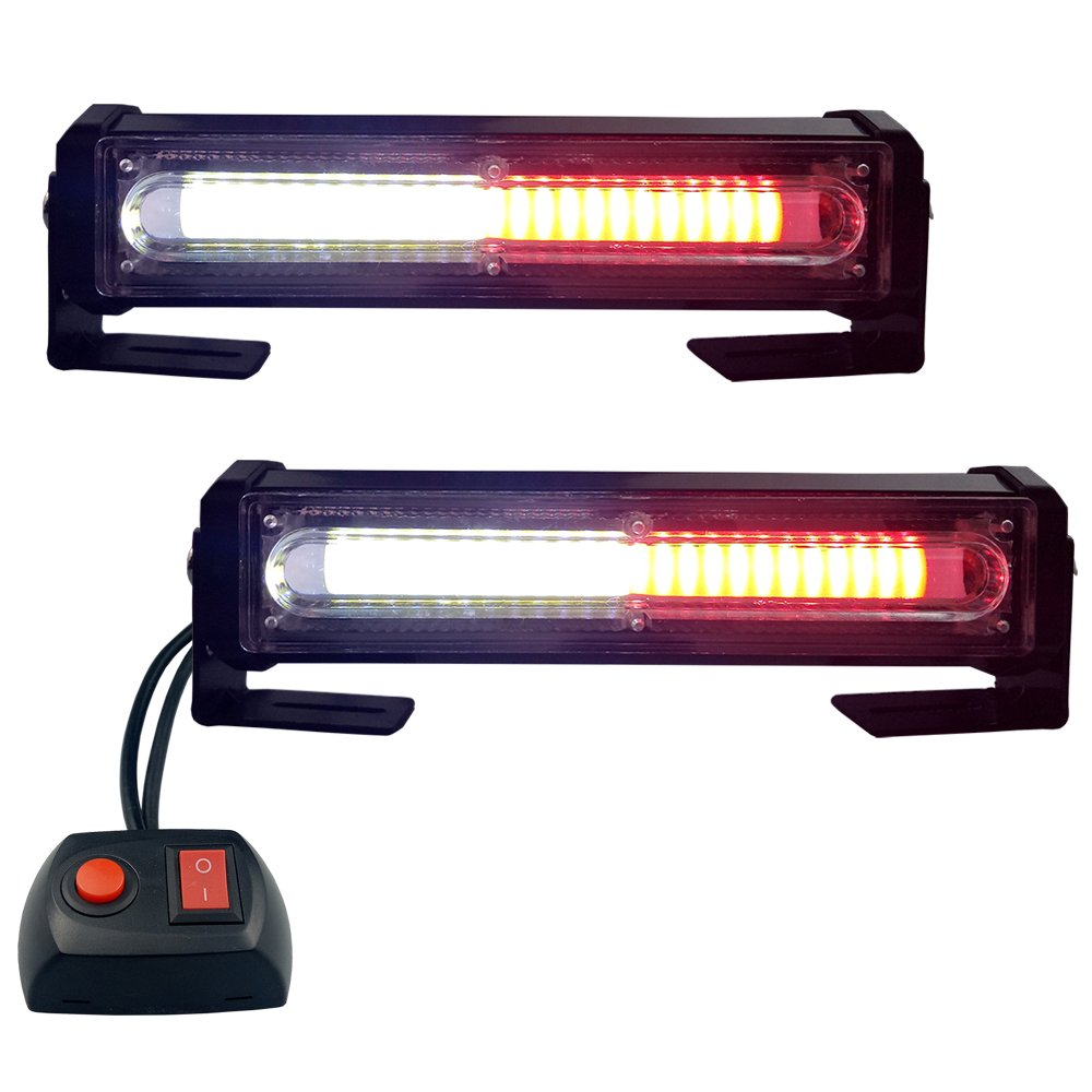 hight resolution of get quotations led emergency lights red white grille light head 16w bright linear led mini strobe lightbar