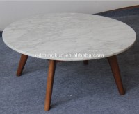 Carved Wood Marble Top Coffee Table - Buy Carved Wood ...