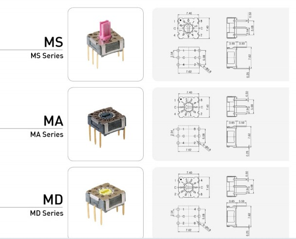 Rotary Dip Switch Code Switch 16 Position Mini Dip Switch