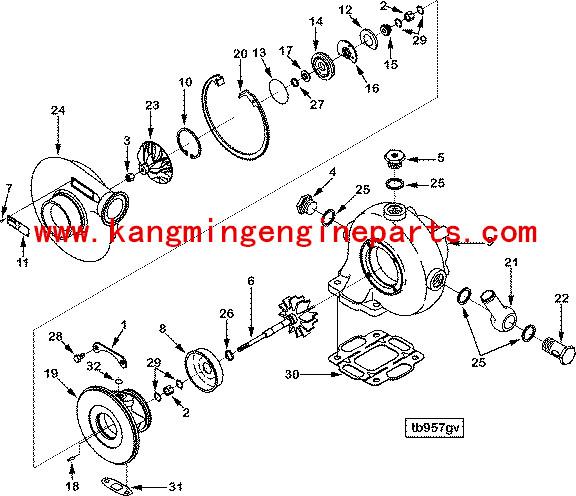 Original Dcec B Series Kit Turbo Repair 3575169 Automobile