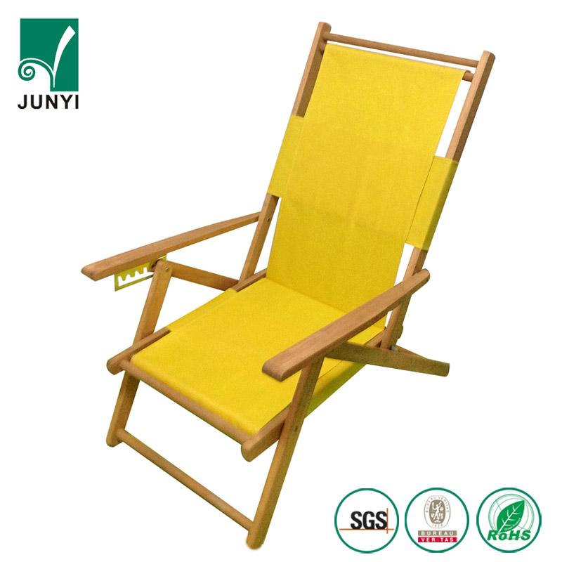 canvas beach chair hanging ikea wood furniture folding double sun armchair foldable wooden deck