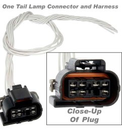 apdty 756760 wiring harness pigtail connector 7 way wire leads fits tail lamp or instrument [ 1500 x 1500 Pixel ]