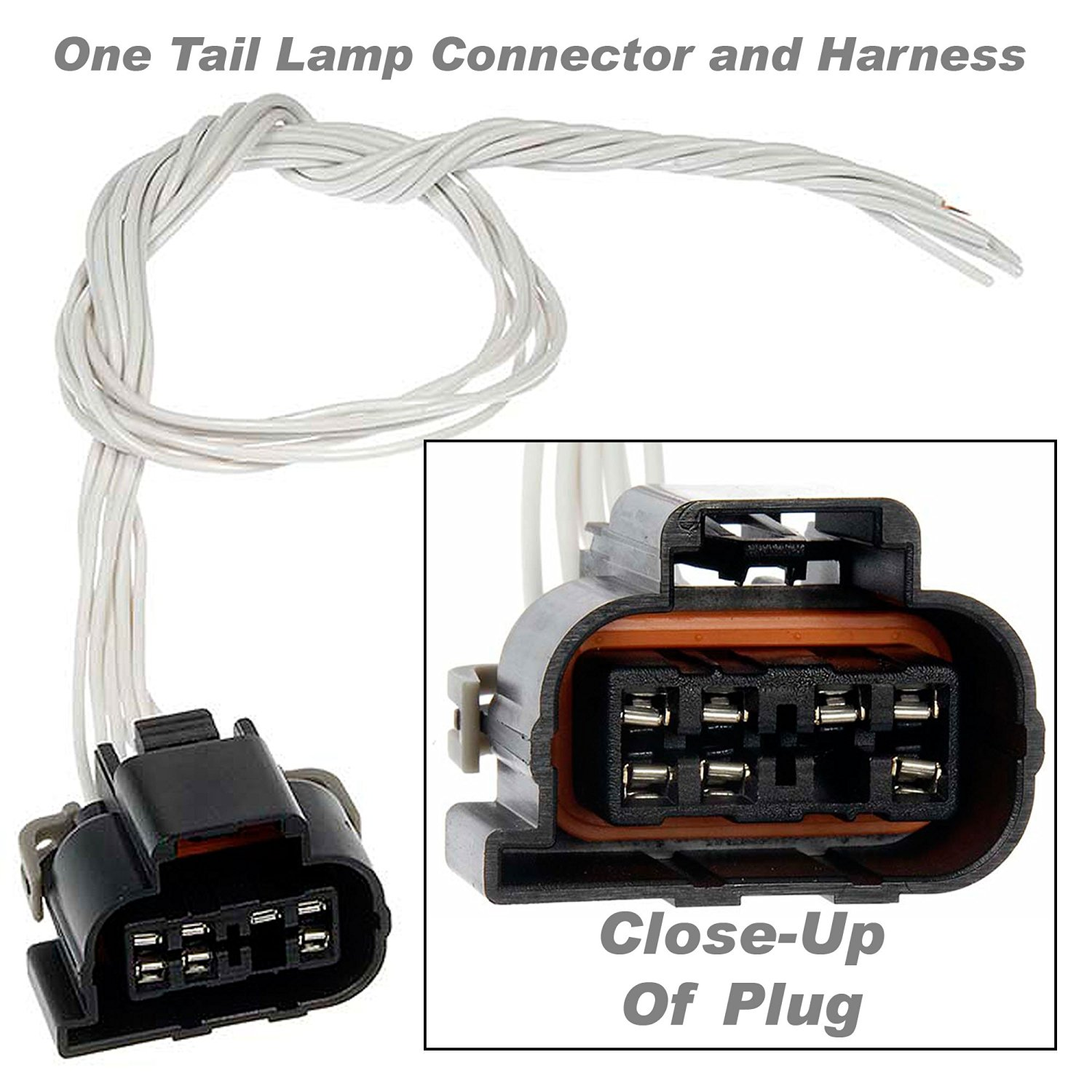 hight resolution of apdty 756760 wiring harness pigtail connector 7 way wire leads fits tail lamp or instrument