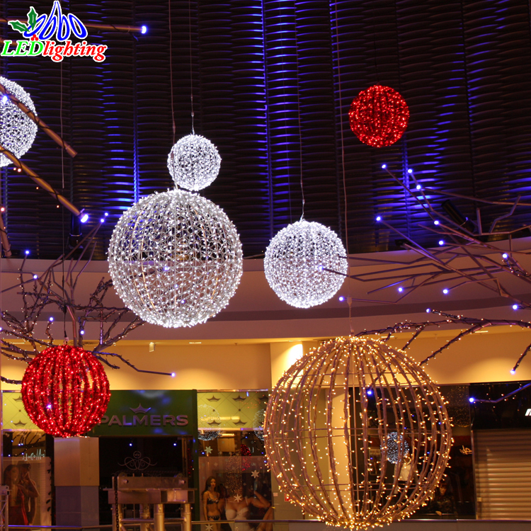 New Products Christmas Decorations Lights Led Hanging Ball Buy Outdoor Christmas Lighted Balls Light Up Christmas Balls Waterproof Led Light Ball Product On Alibaba Com