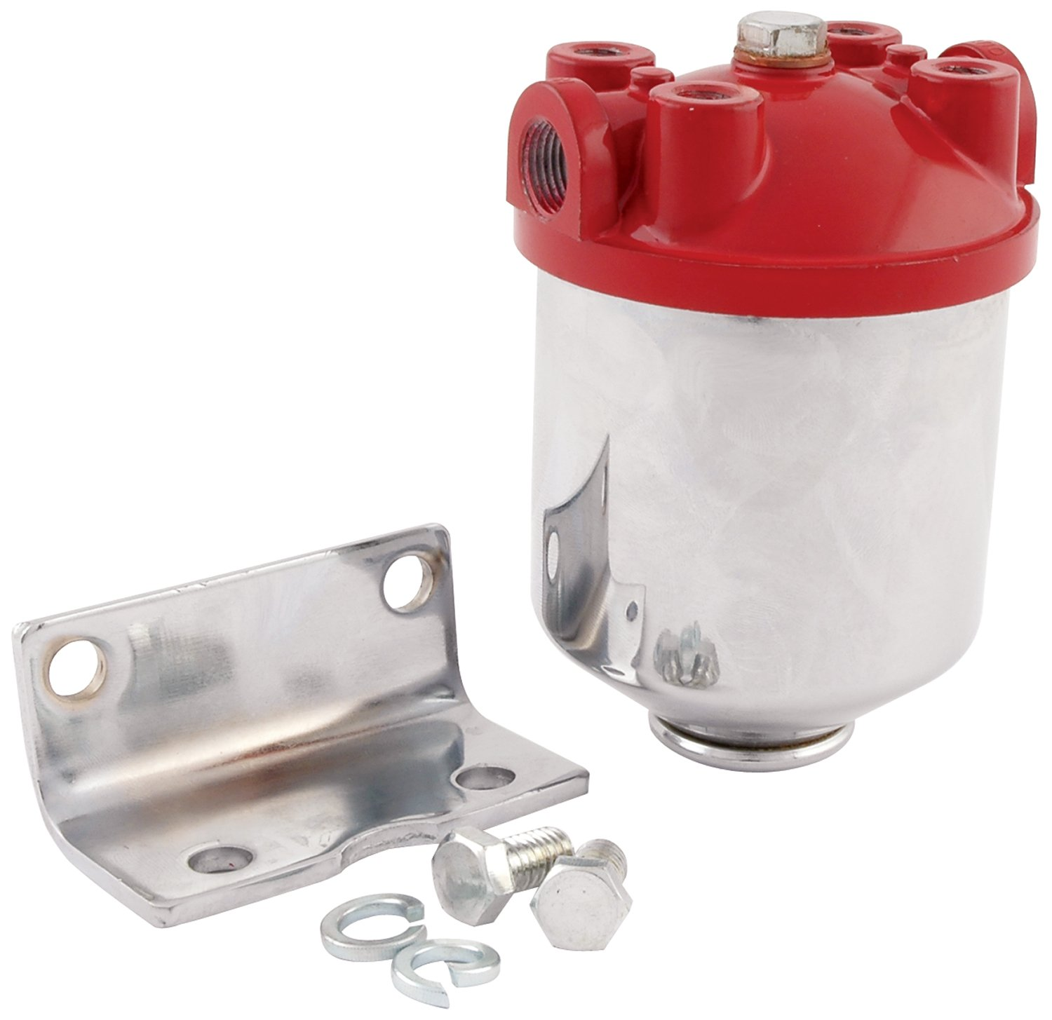 hight resolution of get quotations allstar all40250 3 8 npt inlet outlet chrome finish canister type fuel filter