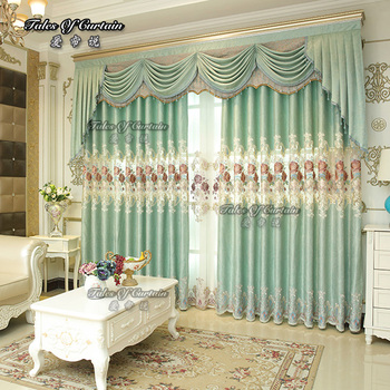 window curtains living room hollywood regency polyester elegant curtain with factory price and valances