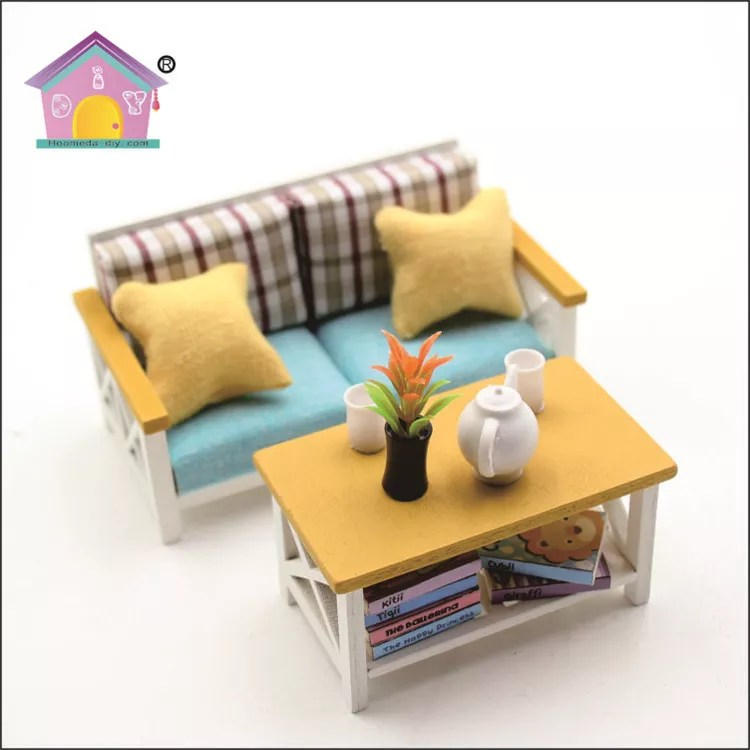 18 doll sofa diy sectional convertible 1 scale wholesale house furniture miniature handmade