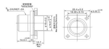 Amphenol Military Connector Ms3102 Male Socket With Ms5105