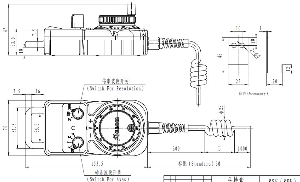 Electro-optical DC 5V CNC CNC handwheel MPG manual pulse