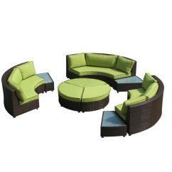 Rattan Half Moon Sofa Set Lexington High Quality Patio Outdoor Garden Semi Circle Sectional Sofas Sets With Coffee Table
