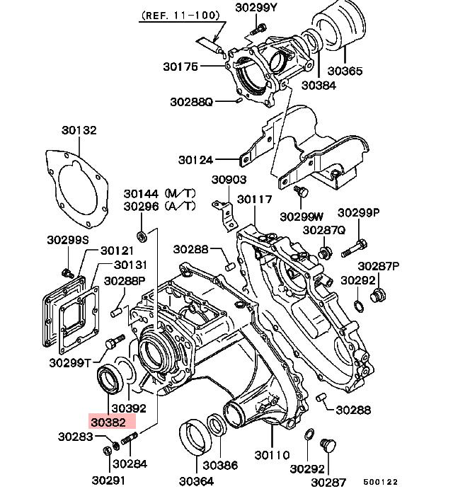Transmission Input Gear Shaft Oil Seal For Mitsubishi