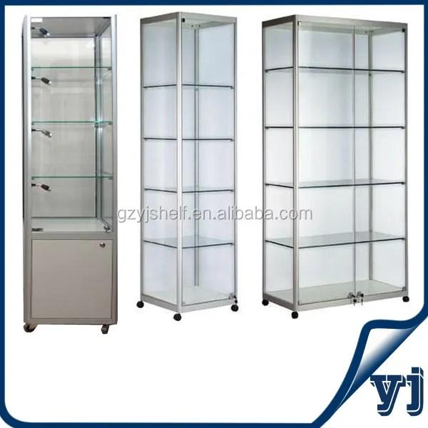 vitrine en verre trempe renforce 1 piece vitrine armoire de presentation bon marche buy cheap glass display cabinets corner glass display