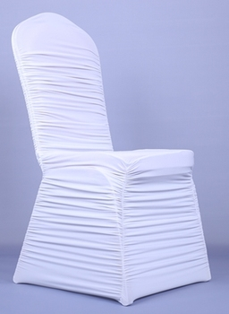 spandex chair covers cheap marble dining table and chairs white ruffled cover for wedding party hotel restaurant