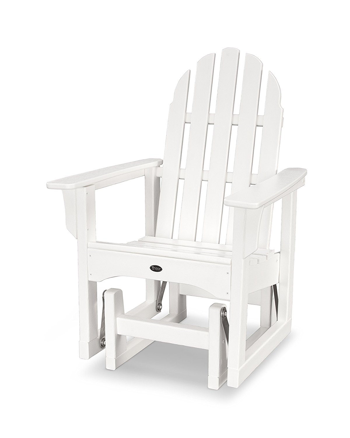 trex adirondack rocking chairs ergonomic quilting chair cheap white find deals on get quotations outdoor furniture cape cod glider in classic