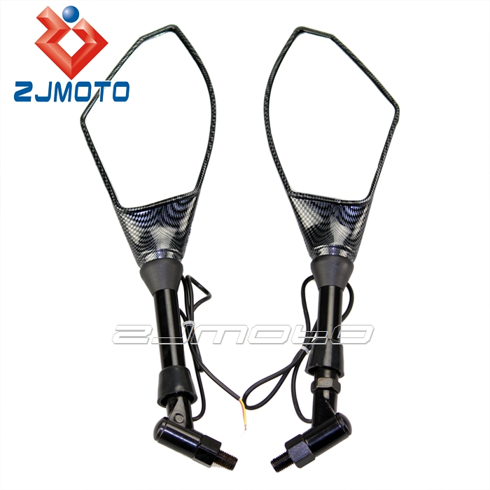 Zjmoto Carton Mirror Led Turn Signals Light Motorcycle
