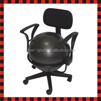 gym ball chair wheelchair rack half fit fitness yoga exercise pilates balance view