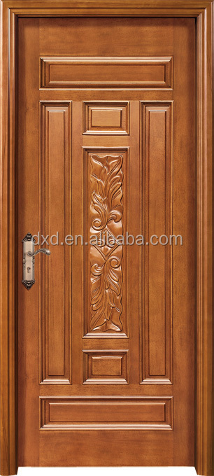 Wooden Carving Main Door Design With Rob Handle