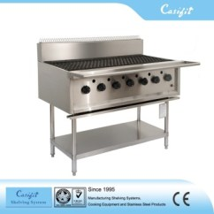 Grill Kitchen Stone Sink Commercial Equipment Stainless Steel Gas Bbq Machine 7 Burners