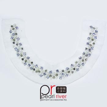 Newest Design Fashion Bead Collar Neckline/embroidered