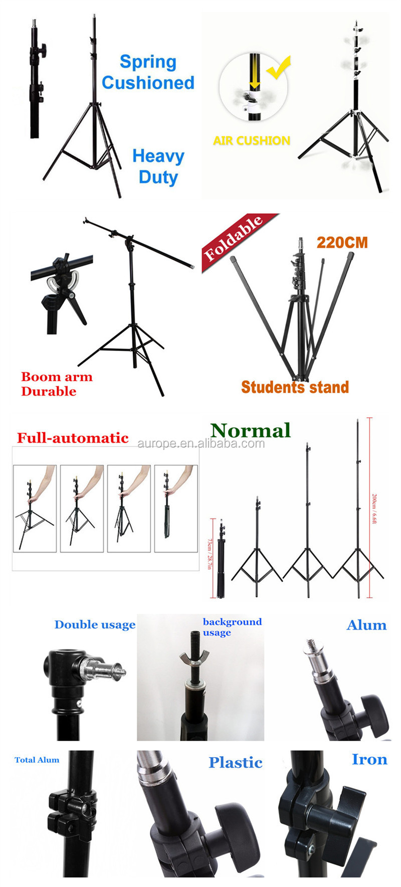 medium resolution of emart photography 7 feet light stands for photo studio video shooting carry case include