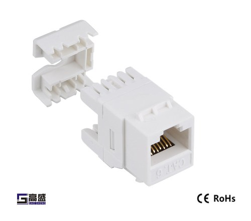 small resolution of made in china network female modular connector keystone jack cat5e short rj45 connector