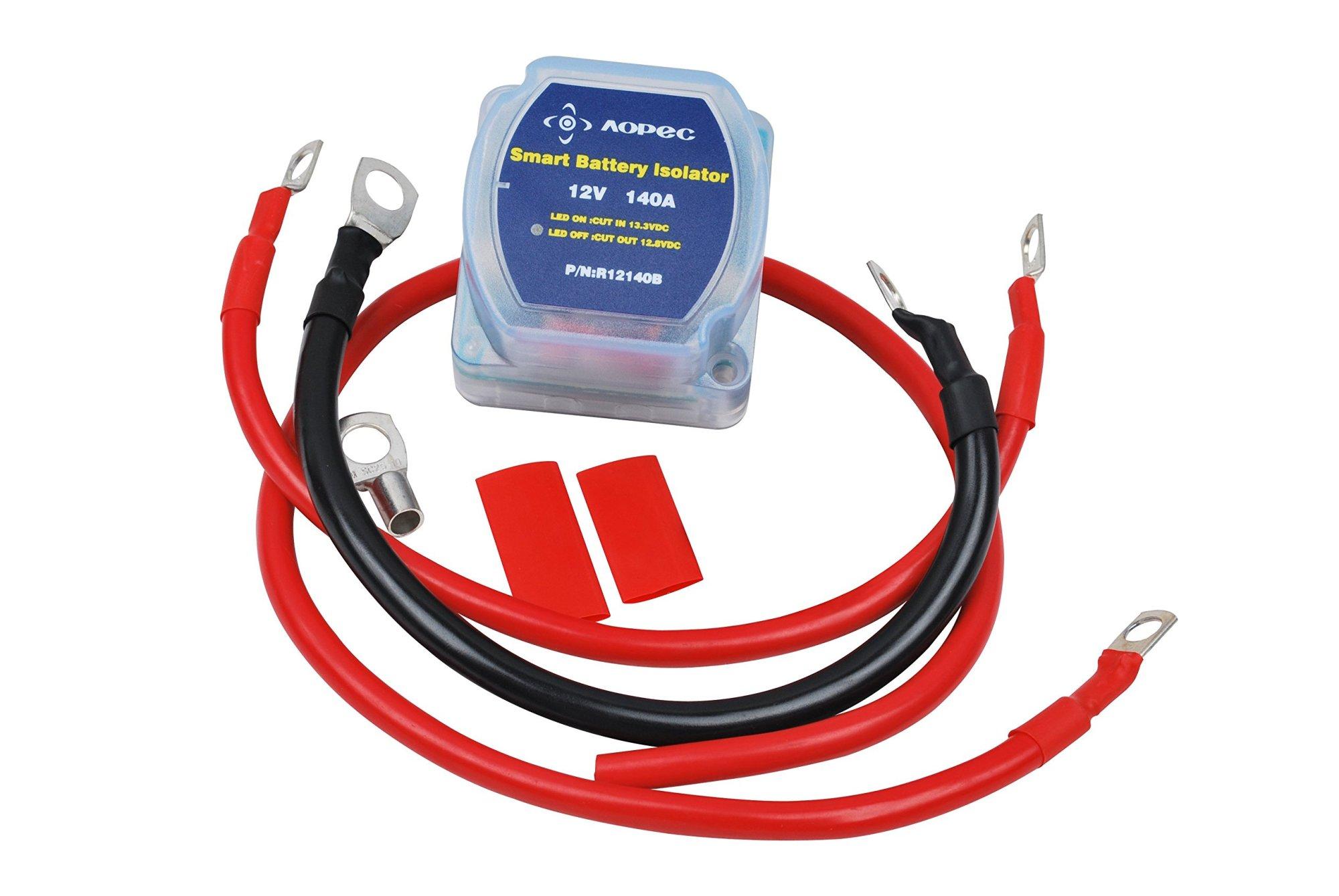 hight resolution of get quotations aopec 12v 140amp dual battery isolator fits atv utv 4wd rzr rv
