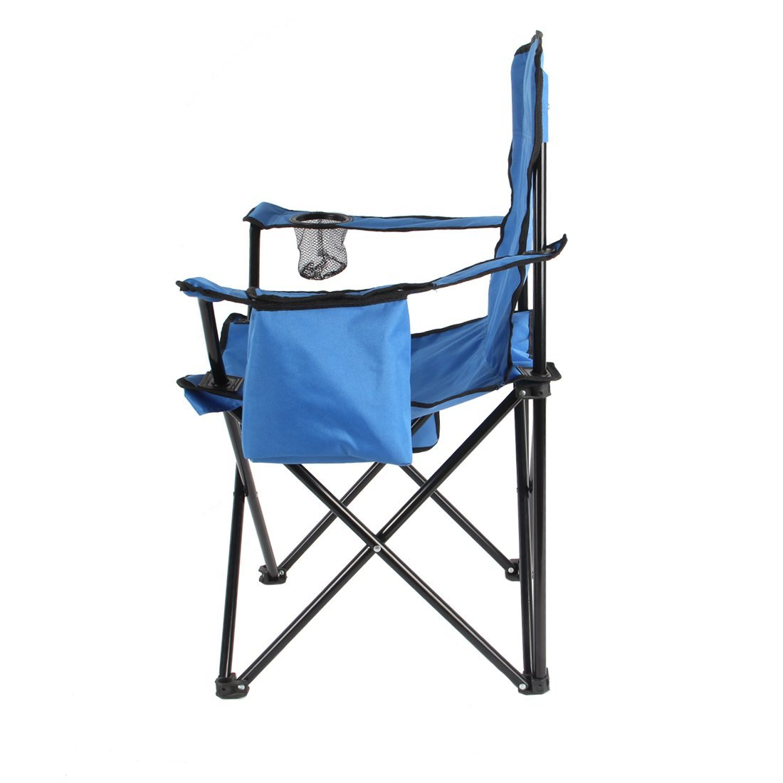 fishing chair with arms captains gym machine camping folding beach arm adjustable canopy ice bag litter caddie
