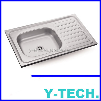 single sink kitchen pantry closet stainless steel with drain board yk0850bl buy eagle sinks inox basin product on alibaba com